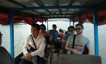 Floating village Tonle Sap lake Cambodia